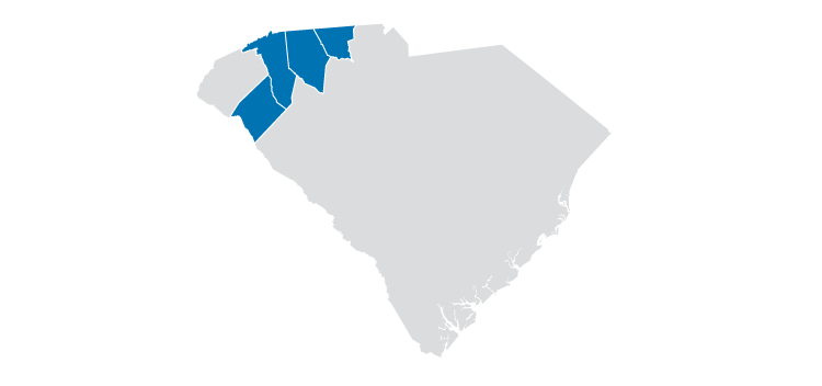 south carolina service map